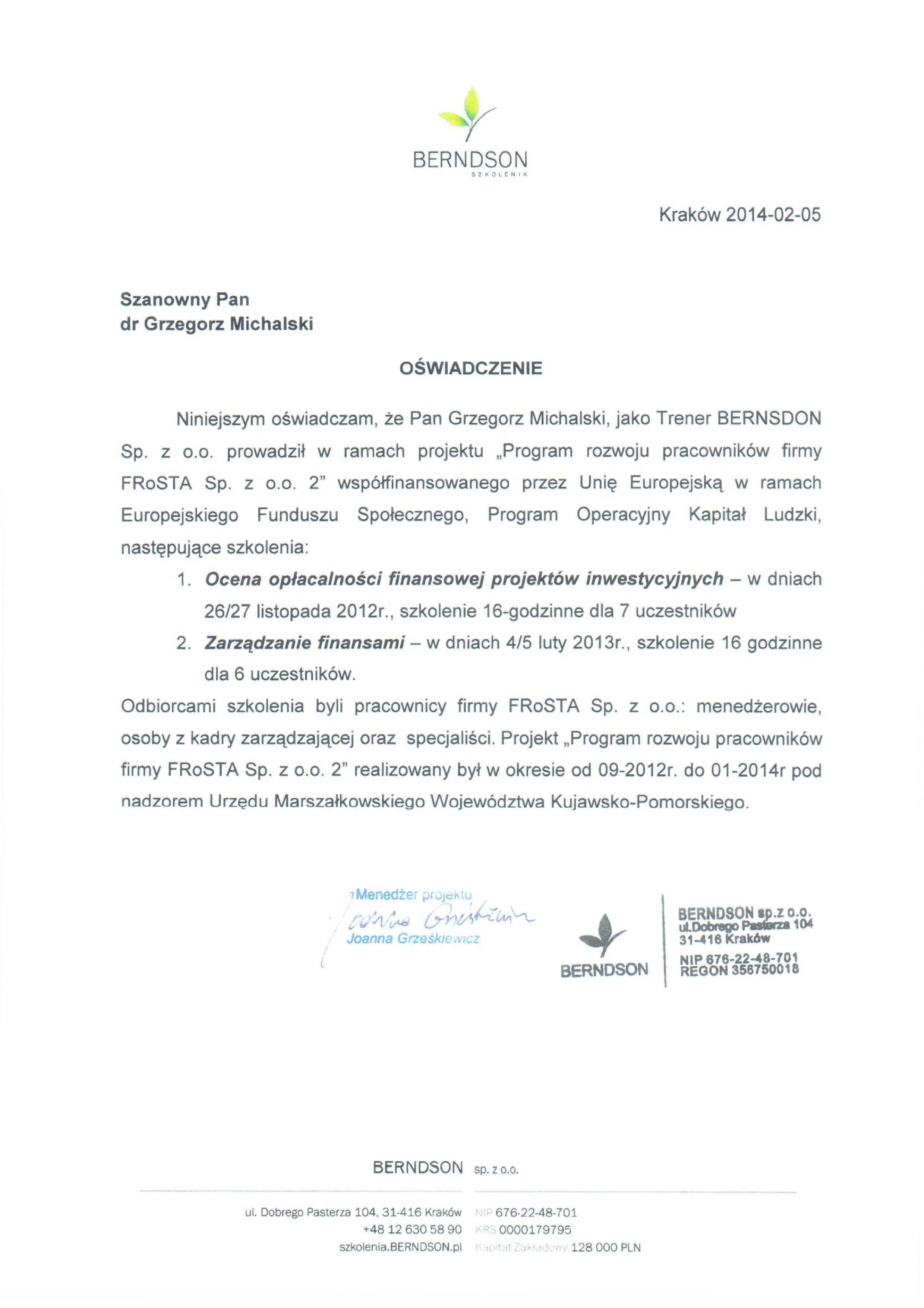 Referencje-michalski-grzegorz-Finanse-i-Projekty-2013BydgoszczFrosta.jpg?=szkolenia